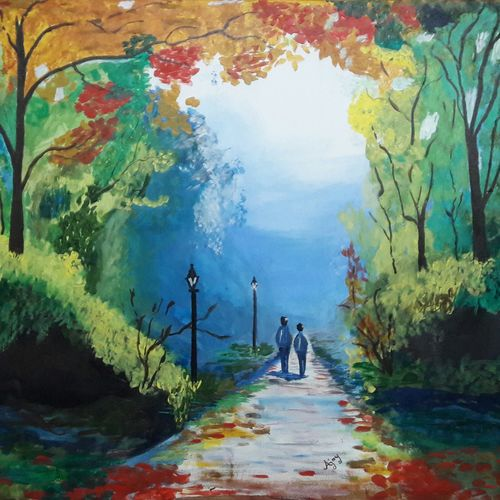 nature painting, 36 x 28 inch, ajay kanawade,36x28inch,canvas,landscape paintings,nature paintings   scenery paintings,paintings for living room,paintings for office,paintings for hotel,paintings for school,paintings for hospital,paintings for living room,paintings for office,paintings for hotel,paintings for school,paintings for hospital,acrylic color,GAL02468936099