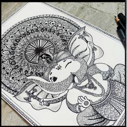 mandala art, zentangle, 12 x 17 inch, anushka singh,12x17inch,cartridge paper,paintings for living room,paintings for kids room,kids drawings,ganesha drawings,paintings for living room,paintings for kids room,photo ink,ball point pen,GAL02471336125
