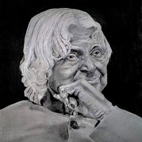 dr apj kalam, 5 x 7 inch, ashwini samy,5x7inch,drawing paper,paintings for living room,paintings for office,paintings for school,portrait drawings,paintings for living room,paintings for office,paintings for school,charcoal,pencil color,GAL02473036142