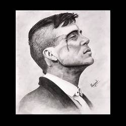 thomas shelby, 10 x 9 inch, prajwal maharana,10x9inch,drawing paper,drawings,portrait drawings,paintings for living room,paintings for kids room,paintings for school,graphite pencil,paper,GAL02468636164