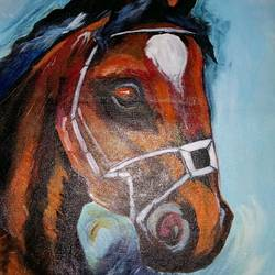 horse , 15 x 12 inch, popo singh,abstract paintings,paintings for dining room,canvas,watercolor,15x12inch,GAL013293617