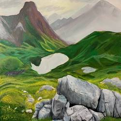 landscape painting , 11 x 16 inch, madhulika anand,11x16inch,canvas,paintings,landscape paintings,nature paintings | scenery paintings,photorealism paintings,realism paintings,surrealism paintings,realistic paintings,paintings for living room,acrylic color,GAL02473436176