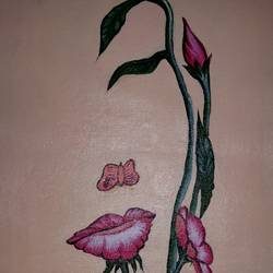 face flower, 14 x 8 inch, popo singh,abstract paintings,paintings for dining room,canvas,watercolor,14x8inch,GAL013293618