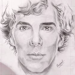 sherlock, 10 x 9 inch, prajwal maharana,10x9inch,drawing paper,drawings,paintings for living room,paintings for kids room,paintings for school,portrait drawings,paintings for living room,paintings for kids room,paintings for school,graphite pencil,paper,GAL02468636183