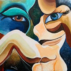 two figure eyes , 21 x 17 inch, manvi bansal,21x17inch,canvas,paintings,abstract paintings,paintings for living room,paintings for bedroom,paintings for office,paintings for living room,paintings for bedroom,paintings for office,acrylic color,GAL02476436220