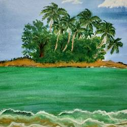 alluring beach, 24 x 18 inch, simla moideen,24x18inch,canvas,landscape paintings,acrylic color,GAL02477236238