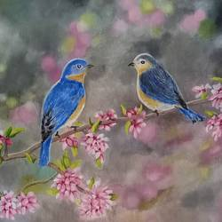 birds, 16 x 12 inch, aravind padmashali,16x12inch,canvas,paintings,nature paintings | scenery paintings,realistic paintings,paintings for dining room,paintings for living room,paintings for office,paintings for kids room,acrylic color,GAL02455836241