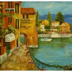 streetscape, 36 x 24 inch, sanjana sharma,36x24inch,canvas,paintings,cityscape paintings,nature paintings | scenery paintings,paintings for living room,paintings for office,paintings for living room,paintings for office,oil color,GAL02405736251