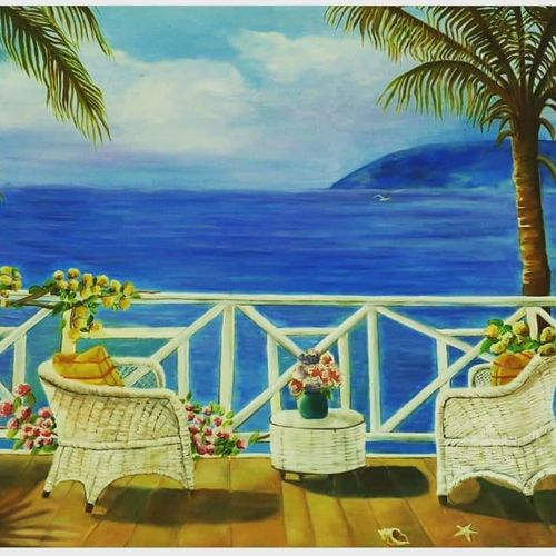 seascape , 36 x 24 inch, sanjana sharma,36x24inch,canvas,paintings,cityscape paintings,landscape paintings,nature paintings | scenery paintings,paintings for living room,paintings for office,oil color,GAL02405736252