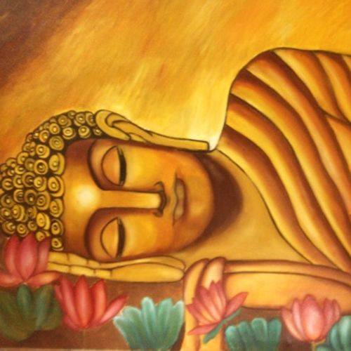 buddha, 36 x 24 inch, sanjana sharma,36x24inch,canvas,paintings,religious paintings,paintings for dining room,paintings for living room,paintings for office,paintings for hotel,oil color,GAL02405736253