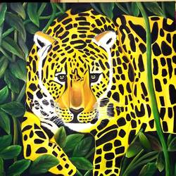 tiger, 36 x 36 inch, sanjana sharma,36x36inch,canvas,paintings,wildlife paintings,landscape paintings,animal paintings,paintings for dining room,paintings for living room,paintings for office,paintings for hotel,oil color,GAL02405736255