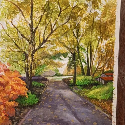 water colour landscape, 10 x 12 inch, rashid matwal,10x12inch,renaissance watercolor paper,paintings,landscape paintings,watercolor,GAL02188836263