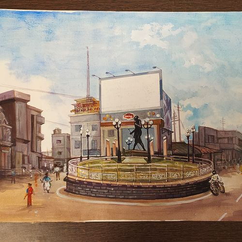 landscape, 10 x 11 inch, rashid matwal,10x11inch,renaissance watercolor paper,paintings,landscape paintings,watercolor,GAL02188836266