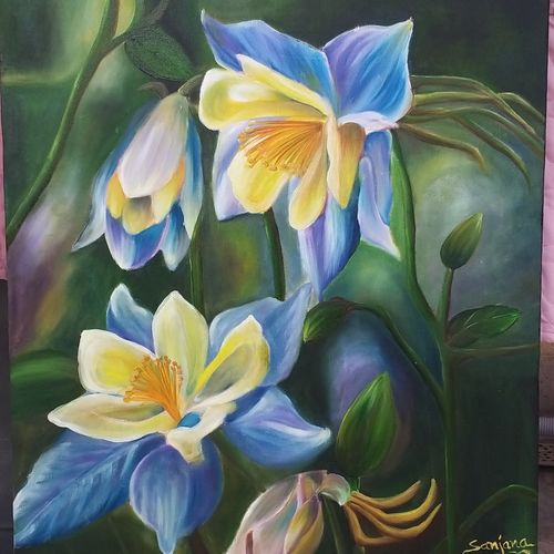 tulips, 18 x 24 inch, sanjana sharma,18x24inch,canvas,paintings,flower paintings,paintings for dining room,paintings for living room,paintings for bedroom,paintings for office,paintings for bathroom,paintings for kids room,paintings for hotel,paintings for kitchen,paintings for school,paintings for hospital,oil color,GAL02405736269