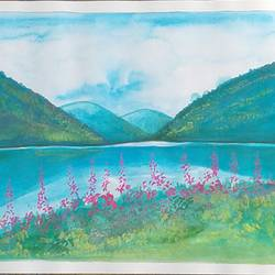 nature, 8 x 11 inch, sujitha artgallery,8x11inch,thick paper,paintings,landscape paintings,nature paintings | scenery paintings,paintings for living room,pastel color,paper,GAL049636279
