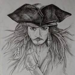 pirates of the caribbean, 11 x 15 inch, srijita pal,11x15inch,paper,drawings,portrait drawings,paintings for living room,paintings for bedroom,paintings for kids room,paintings for hotel,pencil color,GAL02482336290