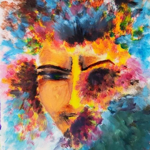 blows my mind , 8 x 12 inch, srijita pal,8x12inch,paper,paintings,modern art paintings,paintings for living room,paintings for bedroom,paintings for office,paintings for kids room,paintings for hotel,acrylic color,GAL02482336291