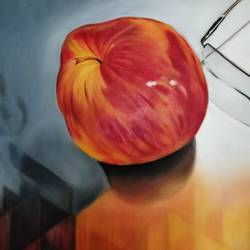 temptation, 40 x 30 inch, deepali roongta,40x30inch,canvas,paintings,still life paintings,contemporary paintings,paintings for dining room,paintings for living room,paintings for bedroom,oil color,GAL02461036322