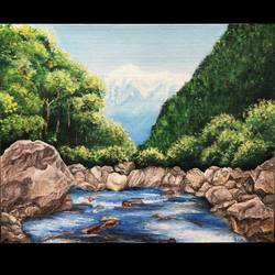 natural beauty, 20 x 16 inch, isha shah,20x16inch,canvas board,paintings,landscape paintings,nature paintings | scenery paintings,paintings for dining room,paintings for living room,paintings for bedroom,paintings for office,acrylic color,GAL02476536324