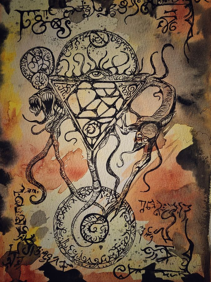 occult enchantment rituals, 8 x 11 inch, anupam das,8x11inch,thick paper,paintings,abstract paintings,folk art paintings,conceptual paintings,abstract expressionism paintings,expressionism paintings,impressionist paintings,surrealism paintings,contemporary paintings,paintings for living room,paintings for bedroom,paintings for bathroom,pen color,photo ink,poster color,GAL02488536332