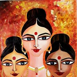 indian  ladies , 14 x 18 inch, rachita bhaumik ,14x18inch,canvas,paintings,figurative paintings,paintings for dining room,paintings for living room,paintings for office,paintings for dining room,paintings for living room,paintings for office,acrylic color,GAL02099636336