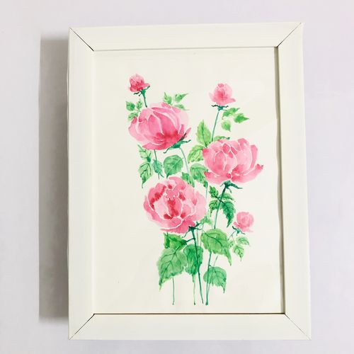 watercolour roses painting,, 11 x 8 inch, munmun kochar ,11x8inch,thick paper,paintings,flower paintings,paintings for dining room,paintings for living room,paintings for bedroom,paintings for office,paintings for bathroom,paintings for kids room,paintings for hotel,paintings for kitchen,paintings for school,paintings for hospital,watercolor,GAL02470236341