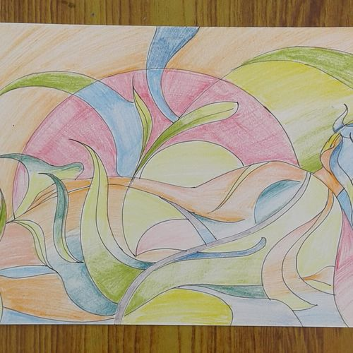 modern art, 8 x 11 inch, sujitha artgallery,8x11inch,thick paper,drawings,modern drawings,paintings for living room,pencil color,GAL049636347