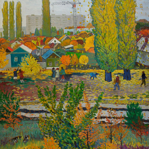 autumn time, 55 x 39 inch, moesey li,landscape paintings,paintings for living room,canvas,oil paint,55x39inch,GAL07183637