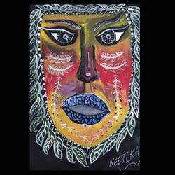 the mask, 8 x 11 inch, neetika singh,8x11inch,paper,paintings for dining room,paintings for living room,paintings for office,paintings for hotel,paintings for dining room,paintings for living room,paintings for office,paintings for hotel,acrylic color,GAL02490836375
