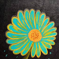flower , 10 x 10 inch, shobana harish,10x10inch,canvas,flower paintings,paintings for dining room,paintings for living room,paintings for bedroom,paintings for office,acrylic color,GAL02453436410