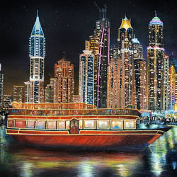 dubai at night, 24 x 18 inch, shobin george,24x18inch,canvas,paintings,cityscape paintings,landscape paintings,nature paintings | scenery paintings,photorealism paintings,realism paintings,paintings for dining room,paintings for living room,paintings for bedroom,paintings for office,paintings for bathroom,paintings for kids room,paintings for hotel,paintings for kitchen,paintings for school,paintings for hospital,acrylic color,fabric,GAL02366336412