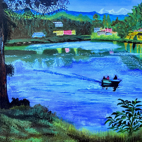 darjeeling mirik lake, 24 x 18 inch, subhojit  naskar,24x18inch,canvas,paintings,landscape paintings,nature paintings | scenery paintings,realism paintings,paintings for dining room,paintings for living room,paintings for bedroom,paintings for office,paintings for kids room,paintings for hotel,paintings for school,paintings for hospital,paintings for dining room,paintings for living room,paintings for bedroom,paintings for office,paintings for kids room,paintings for hotel,paintings for school,paintings for hospital,acrylic color,GAL02303936422