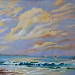 tranquility, 36 x 24 inch, sudeshna  chatterjee,36x24inch,canvas,paintings,landscape paintings,nature paintings | scenery paintings,photorealism paintings,photorealism,realism paintings,realistic paintings,paintings for dining room,paintings for living room,paintings for bedroom,paintings for office,oil color,GAL02448736452