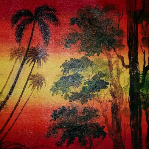 sun set view of nature, 14 x 19 inch, popo singh,paintings for dining room,landscape paintings,nature paintings,canvas,watercolor,14x19inch,GAL013293646Nature,environment,Beauty,scenery,greenery