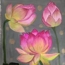 lotus painting, 13 x 21 inch, vidhya narayanasamy,13x21inch,canvas,paintings,flower paintings,nature paintings | scenery paintings,paintings for dining room,paintings for living room,paintings for bedroom,paintings for office,paintings for kids room,paintings for hotel,paintings for dining room,paintings for living room,paintings for bedroom,paintings for office,paintings for kids room,paintings for hotel,acrylic color,GAL02450736465