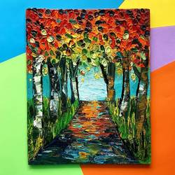forest path, 8 x 10 inch, harsha  khanchandani ,8x10inch,canvas,abstract paintings,landscape paintings,modern art paintings,nature paintings | scenery paintings,impressionist paintings,paintings for dining room,paintings for living room,paintings for bedroom,paintings for office,paintings for kids room,paintings for hotel,paintings for school,paintings for dining room,paintings for living room,paintings for bedroom,paintings for office,paintings for kids room,paintings for hotel,paintings for school,oil color,GAL02500836472