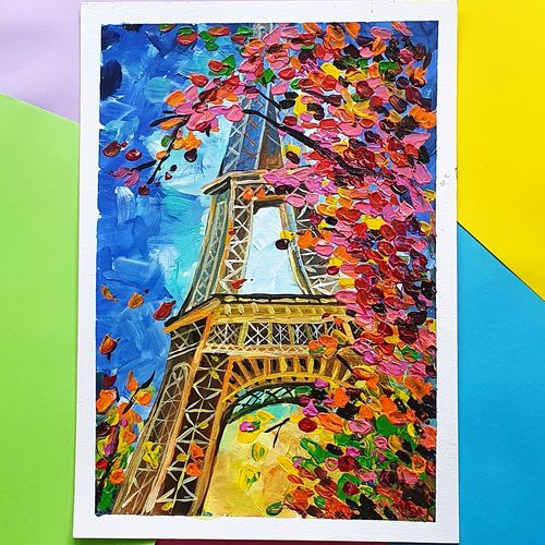 eiffel tower , 8 x 11 inch, harsha  khanchandani ,8x11inch,thick paper,paintings,abstract paintings,flower paintings,cityscape paintings,modern art paintings,contemporary paintings,kids paintings,paintings for dining room,paintings for living room,paintings for bedroom,paintings for office,paintings for bathroom,paintings for kids room,paintings for hotel,paintings for kitchen,paintings for school,paintings for hospital,acrylic color,GAL02500836476