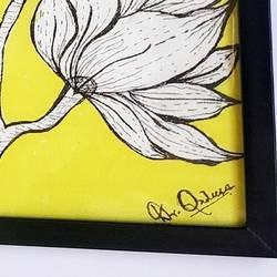 yellow divine, 12 x 10 inch, dr qadeera baghban,12x10inch,canvas,paintings,flower paintings,paintings for office,acrylic color,GAL02504236487