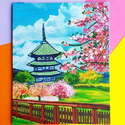 pagoda japan, 8 x 10 inch, harsha khanchandani ,8x10inch,canvas,paintings,abstract paintings,cityscape paintings,landscape paintings,modern art paintings,religious paintings,nature paintings | scenery paintings,pop art paintings,realism paintings,contemporary paintings,water fountain paintings,children paintings,kids paintings,paintings for dining room,paintings for living room,paintings for bedroom,paintings for office,paintings for bathroom,paintings for kids room,paintings for hotel,paintings for kitchen,paintings for school,paintings for hospital,abstract drawings,abstract expressionism drawings,fine art drawings,impressionist drawings,modern drawings,photorealism drawings,realism drawings,paintings for dining room,paintings for living room,paintings for bedroom,paintings for office,paintings for bathroom,paintings for kids room,paintings for hotel,paintings for kitchen,paintings for school,paintings for hospital,acrylic color,GAL02500836502
