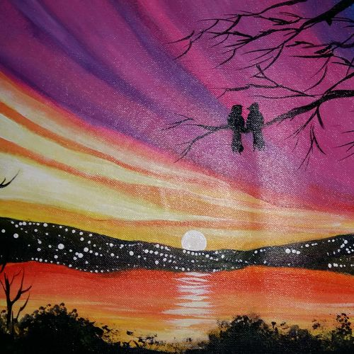 twin birds sharing love in a lonely evening, 11 x 15 inch, popo singh,abstract paintings,paintings for dining room,love paintings,canvas,watercolor,11x15inch,GAL013293651heart,family,caring,happiness,forever,happy,trust,passion,romance,sweet,kiss,love,hugs,warm,fun,kisses,joy,friendship,marriage,chocolate,husband,wife,forever,caring,couple,sweetheart