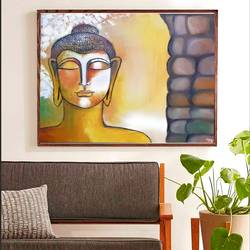 gautam buddha enchanting, 24 x 20 inch, lily kamwal,24x20inch,canvas,paintings,buddha paintings,paintings for living room,paintings for office,paintings for hotel,paintings for hospital,oil color,GAL02483136510