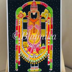 tirupati balaji, 8 x 12 inch, bhumika desai,8x12inch,thick paper,paintings,religious paintings,paintings for living room,paintings for office,ink color,paper,GAL02457736515