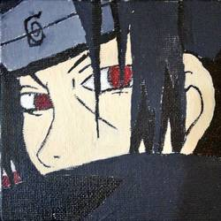 itachi uchihaa, 4 x 4 inch, gursimar kaur,4x4inch,canvas,paintings,children paintings,kids paintings,paintings for kids room,paintings for kids room,acrylic color,GAL02500636517