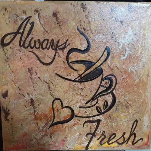 always fresh.. good morning!, 16 x 12 inch, neha upadhye,16x12inch,canvas,paintings,abstract paintings,paintings for dining room,paintings for living room,paintings for office,paintings for kitchen,acrylic color,GAL02508736526