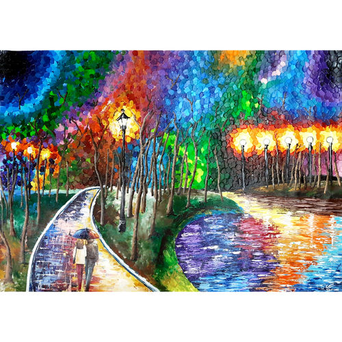 rainbow evening, 45 x 32 inch, garima gupta,45x32inch,canvas,paintings,abstract paintings,figurative paintings,cityscape paintings,landscape paintings,modern art paintings,conceptual paintings,expressionism paintings,paintings for dining room,paintings for living room,paintings for bedroom,paintings for office,paintings for hotel,paintings for hospital,acrylic color,GAL02507036528