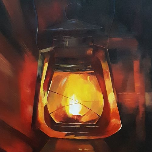 lantern , 18 x 24 inch, nathuram  bendkhale,18x24inch,canvas,paintings,still life paintings,paintings for living room,acrylic color,GAL0980636547