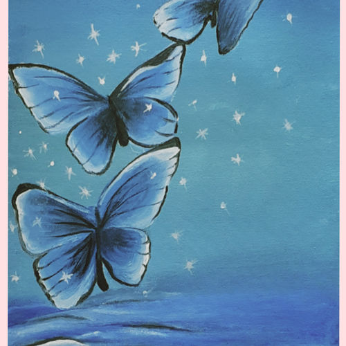 butterfly, 12 x 16 inch, naghmi malik,12x16inch,canvas,paintings,wildlife paintings,nature paintings | scenery paintings,paintings for dining room,paintings for living room,paintings for bedroom,paintings for office,paintings for bathroom,paintings for kids room,paintings for hotel,paintings for kitchen,paintings for school,paintings for hospital,acrylic color,GAL02129536555