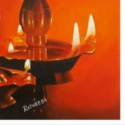the lamp, 16 x 12 inch, ratheesh kalapurakkal,16x12inch,canvas,paintings,religious paintings,kerala murals painting,paintings for dining room,paintings for living room,paintings for kids room,paintings for school,paintings for hospital,paintings for dining room,paintings for living room,paintings for kids room,paintings for school,paintings for hospital,oil color,GAL02448036561
