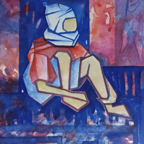 winter season, 10 x 13 inch, annie artist,10x13inch,cartridge paper,paintings,figurative paintings,acrylic color,GAL02486636563