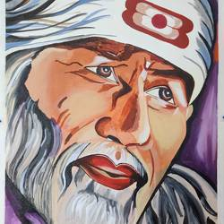 sai baba, 28 x 36 inch, ajay kanawade,28x36inch,canvas,religious paintings,portrait paintings,paintings for dining room,paintings for living room,paintings for office,paintings for hotel,paintings for school,paintings for hospital,paintings for dining room,paintings for living room,paintings for office,paintings for hotel,paintings for school,paintings for hospital,acrylic color,GAL02468936574